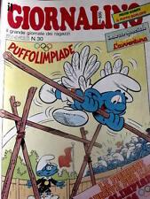 Giornalino 30 1984 Puffo Olimpiade Piuma Rossa Poochie + inserto L'AVVENTURA