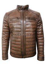 Men's 9050 Chestnut Stylish Luxury Casual Real VEGE Napa Leather Fashion Jacket
