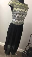 Vestido de Encaje plisado de abrazo Traffic People ASOS RRP £ 76 (AS9/27)