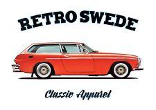 VOLVO P1800 ES t-shirt. RETRO SWEDE. CLASSIC CAR. SWEDISH. MODIFIED. CUSTOM CAR.