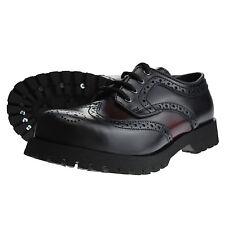 Boots and Braces Budapester Schwarz / Burgundy Leder Schuhe 4-Loch Stahlkappe