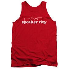 Old School Speaker City Logo Mens Tank Top Shirt
