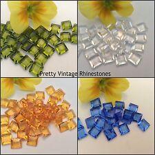 SWAROVSKI #4402/2 Vintage Quadrato UF canale taglio con strass x6 Colore Opzione