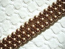 50 pc SWAROVSKI CRYSTAL Bronze Pearls Loose BEADS 5mm 5810, Round, Free Shipping