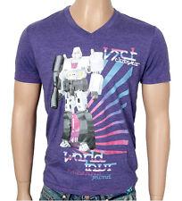VSCT Robot V-Neck Herren T-Shirt lila Herrenshirt Jersey Transformers Roboter