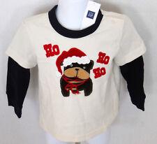 BABY GAP Boy's Christmas Dog Ho Ho Ho Shirt Size 6-12 Months