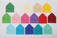 10 Mini Briefumschläge Umschläge Umschlag Geldgeschenk klein Farbe wählbar