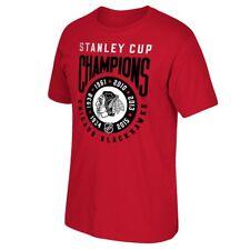 "Chicago Blackhawks Reebok ""6x Stanley Cup Champions"" Ring Red T-Shirt Men's"