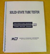new B&K 607 Tube Tester SETUP DATA Chart Book & Manual