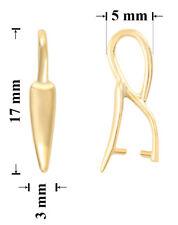 ARGENTO sterling placcato oro con pizzico Bails con loop 17x3mm per cristalli ciondoli