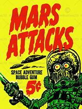 87501 MARS ATTACKS BUABBLE GUM ALIEN MONSTER SAUCER Decor WALL PRINT POSTER CA