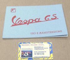 1389 LIBRETTO USO E MANUTENZIONE VESPA 150 GS 1968 - 1971