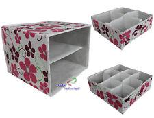 2 in1 Textil Organizer Aufbewahrungsbox faltbar mit 4 und 9 Fächer