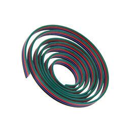 ✅  4x 0,32mm² 22 AWG RGB Anschlußkabel 4 Adrig, Verlängerungskabel, METERWARE