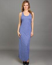 WOMENS Dress Jr sz Maxi Summer Tank Racerback S M L stripe BOHO CHIC