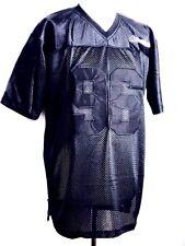 RICAMO Uomo Nero Maglia NFL Football Americano Camicia di Seta T-shirt S-4XL