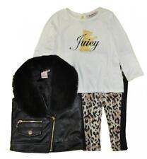 Juicy Couture Infant Girls Black Vest 3pc Set Size 3/6M 6/9M 12M 18M 24M
