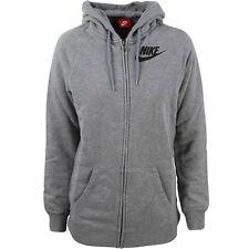 $69.99 749796-091 Nike Women Rally Boyfriend Full Zip Hoodie (grey / carbon heat