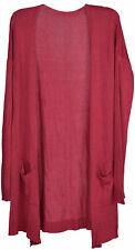 Cardigan en maille avec poches plaquées, gilet sans fermeture, manteau long