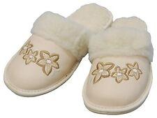 Damen Hausschuhe warm - Größe 36-41 - Echtleder - Latschen,Pantoffeln - XG08
