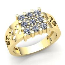 Natural 0.2carat Round Brilliant Cut Cluster Diamond Ring Solid 14Karat Gold VS