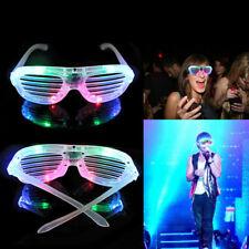 Unisex Luce LED TENDINE BRILLA Occhiali da sole da festa divertente notte club