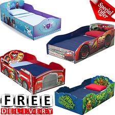 Toddler Bed Kid Frame Child Bedroom Furniture Boy Girl Princess Wood Car