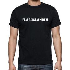 Flachslanden Tshirt, Hommes Tshirt Noir, Herren Tshirt Schwarz, Cadeau