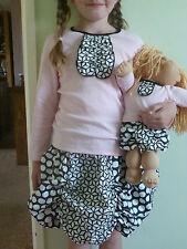FREE P&P USA 4everprincess haut, jupe à volants et poupée costume 5/6, 7/8 ans