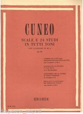 Cuneo: Scale e 24 Studi in Tutti Toni Per Sassofono Op.197 - Ricordi