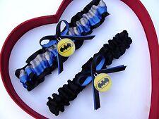 New Batman Wedding Garter Silver Blue Yellow Black Prom Superhero Garter