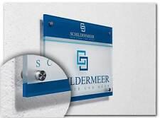 DIN A3 Acrylglas XT Firmenschild Praxisschild Kanzleischild Büroschild bedruckt