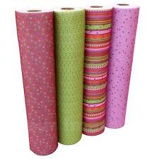 Design Craft Felt, 4 Colous Dusky Pink/Burgundy & Green Designs Per Half Metre