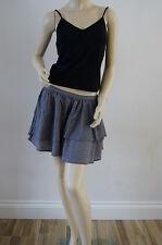 TOPSHOP Grey Checked Frilly Ra Ra Mini Summer Skirt 14 16 £25 FREE P&P E6