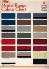 Mitsubishi Colour & Trim 1986 UK Market Leaflet Brochure Colt Galant Shogun