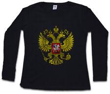 Russian Eagle Logo Femmes Manches Longues T-Shirt Russie CCCP Adler Russia