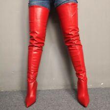 Custom-made Sexy Women Overknee High Thigh Boots Pointy Toe Stilettos Heel Shoes