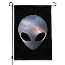 Alien Head in Space Garden Yard Flag