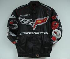 Chevrolet Corvette Embroidered Leather Jacket Black JH Design NEW XXXL