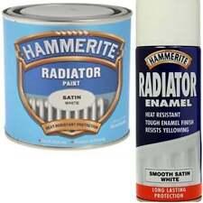 HAMMERITE Radiator Paint White | Gloss or Satin 500ml Enamel 400ml Spray Aerosol