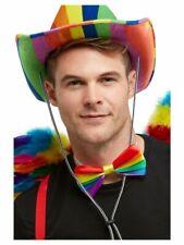 NEW Rainbow Bow Tie - Smiffy's Pride Festival Fancy Dress Accessories