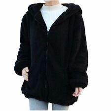 Womens Cute Loose Tops Bear Ear Coat Hoodie Hooded Jacket Winter Warm Outerwear