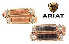 Ariat Brn Ostrich - Blk Croc Gater ~TOOLED Leather~Western Belt Cowboy A10120 17