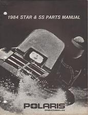 1984 Polaris Snowmobile Star & Ss Parts Manual P/N 9910901