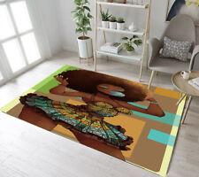 African Women Afro Hair Girl Home Decor Bedroom Carpet Room Floor Rug Yoga Mat