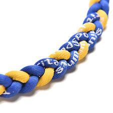 "Titanium Ionic Sports Baseball Necklace 20"" 3-rope Tornado Braid HUUS"