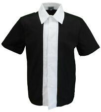 Mens Retro Black and White Rockabilly Bowling Shirts