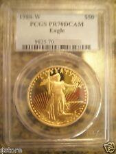 1988 $50 PCGS PR70DCAM  GOLD American Eagle