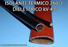 TUBO GUAINA ISOLANTE VETRO SILICONE ALTE TEMPERATURE PROTEZIONE kV 4,0 260°C