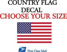 U.S.A. COUNTRY FLAG, STICKER, DECAL, 5 YR VINYL